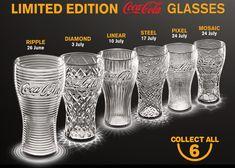 McDonald's Free Limited Edition Coca-Cola Glasses Coca-Cola Glasses are back at McDonald's! Available with every Large Coca-Cola Coca Cola Decor, Coca Cola Ad, Always Coca Cola, World Of Coca Cola, Coca Cola Bottles, Carafe, Coca Cola Glasses, Coca Cola Kitchen, Sodas