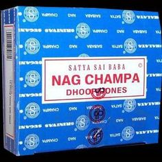 World Famous - Popular Satya Sai Baba Nag Champa Incense Cones. Each box of 12 includes metal stand to burn your incense cones. Nag Champa Dhoop is handmade in Bangalore, India with all-natural resins, gums, flowers, perfumes and oils.