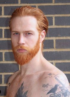 Orange and Red Ginger Men, Ginger Beard, Ginger Hair, Gorgeous Redhead, Beautiful Men, Red Hair Men, Redhead Men, Hair And Beard Styles, Hair Styles