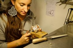 where the silver, brass and bronze jewellery is made