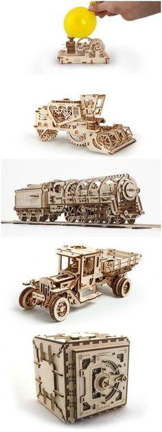 Amazing Mechanical 3d Wood Puzzles - #DIY+Crafts, #Funny #Art, #Craft, #Creative, #DIY, #Kids, #Wood (source: creativespotting.com)