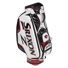 Srixon 2016 Tour Staff Bag, White by Srixon. Golf Bags For Sale, Ladies Golf Bags, Bags 2017, Womens Golf Shoes, Cheap Bags, At Home Gym, Golf Outfit, Golf Carts, Golf Ball