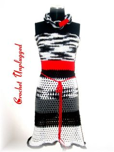 ZEBRA POP Crochet Apron Top 'Ready-to-Ship' by CrochetUnplugged, $75.00