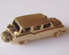 Large 9ct Gold London Taxi Cab and Driver Charm Opens by TrueVintageCharms on Etsy