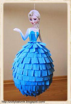 Elsa Frozen pinata – My WordPress Website Frozen Pinata, Frozen Themed Birthday Party, Elsa Birthday, 5th Birthday Party Ideas, Birthday Party Decorations, Elsa Frozen, Disney Frozen Party, Festa Frozen Fever, Anna Und Elsa