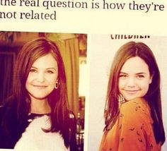 How are Ginnifer Goodwin & Bailee Madison NOT related!?<< I completely respect the people who do the casting for OUAT
