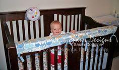 2paws Designs: DIY: Crib Teething Rail Cover