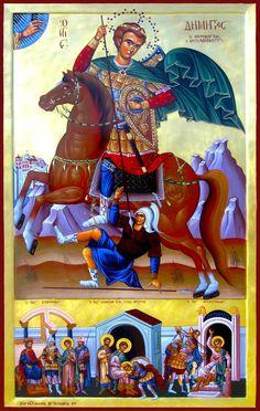 Sfântul Mare Mucenic Dimitrie, Izvorâtorul de mir Religious Images, Religious Icons, Religious Art, Raphael Angel, Archangel Raphael, Byzantine Icons, Byzantine Art, Faith Of Our Fathers, Greek Icons