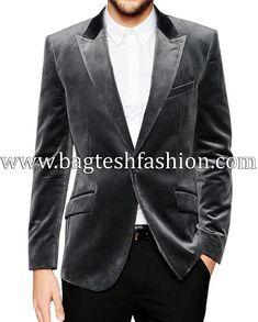 Mens Italian Tailored Velvet Blazer Sports Jacket only size 36 blue left