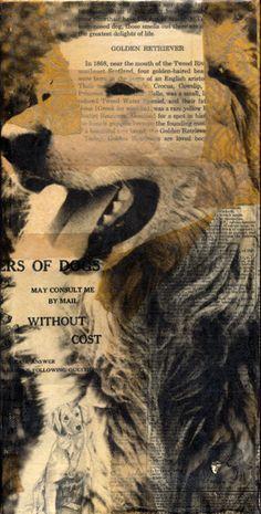 Goldie - Artist Michelle Caplan - Collage Photo Transfer