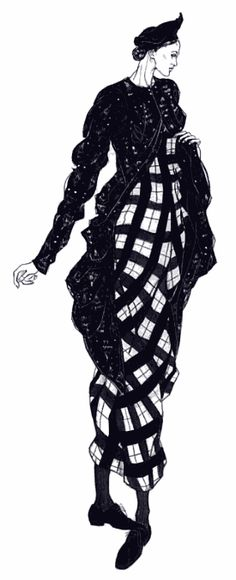 Claire Smalley Galliano Illustration