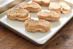 We're making Homemade Nutter Butters. Big soft peanut butter sandwich cookies. Flourless