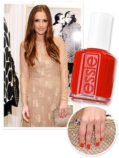 Here's the scoop on #MinkaKelly's pop of red nail polish: The actress lacquered up in #Essie's Geranium! http://news.instyle.com/2012/03/28/minka-kelly-nail-polish-essie/