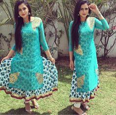 Designer Punjabi Suits, Indian Designer Wear, Pakistani Dress Design, Pakistani Dresses, Oshin Brar, Traditional Dresses Designs, Girl Trends, Bollywood Actress, Indian Fashion