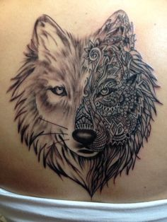 Wolf tattoo by Kelly of The Tattoo Lady in Hammond,Indiana #wolftattoo #thetattoolady #thetattooladyhammond