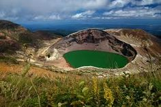 Image result for mountain lake top volcano