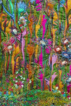 The Hay meadow Flowers. Nature.poppies. wall by FabricsofNature, £495.00