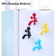 Mini Q-Man Fridge Magnet Cute Rubber Man Toy Novelty Curiously Awesome Gift