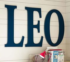 Harper Painted Letters | Pottery Barn Kids- I could make these for over Payton's crib.