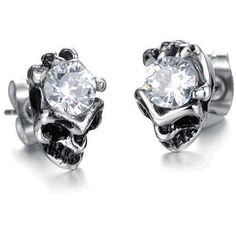 Big Skull Crystal Earrings - Skullflow    https://www.skullflow.com/collections/skull-earrings/products/big-skull-crystal-earrings