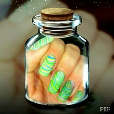 Water marble design mit boii cosmetics lacken aus den USA