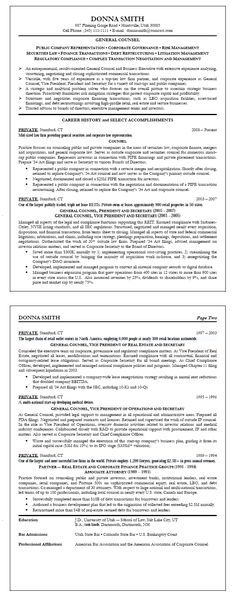 Attorney Resume Sample Law (resumecompanion) Resume Samples - legal compliance officer sample resume