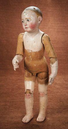 muñeco de madera tallada alemán con extraordinaria expresión 1600/2300…