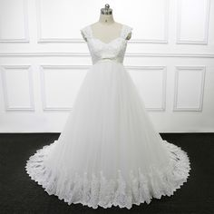 Ivory Plus Size Wedding Gowns For Pregnant Women Gestante Maternity Bride Wedding Dresses Lace Trouwjurken China R209