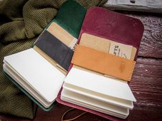 TC-18 Leather cover for field notes booklets. via Texu Crafts. Click on the image to see more!