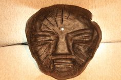 """""""Black kitsch. Ongon №2."""" - Rustic wood sculpture. Contemporary art object."""
