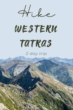 Experience the breathtaking view of the wilderness and non-touristic in the spectacular mountain range Western Tatras 2 Days Trip, Carpathian Mountains, Across The Bridge, Sea Level, Discount Travel, Mountain Range, Tour Guide, Czech Republic, Wilderness