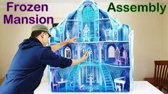 DISNEY FROZEN SNOWFLAKE MANSION DOLLHOUSE ASSEMBLY DIY HOW TO #Frozen #Mansion #DIY #Assembly #Dollhouse #castle #kidkraft