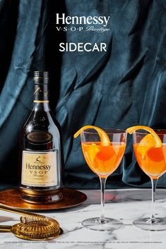 Elegant simplicity. Citrus flavors meet the oaky, vanilla-kissed hints of V.S.O.P Privilège in the Hennessy Sidecar.