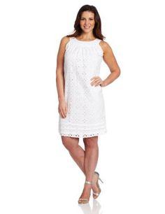 32df3f2b51eae Tiana B Women s Plus Size Eyelet Trapeze Dress Trendy Plus Size Fashion