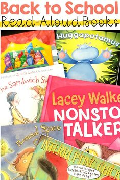 Engaging back to school read aloud books for the first week of school #backtoschool #firstweekofschool #readaloud #books