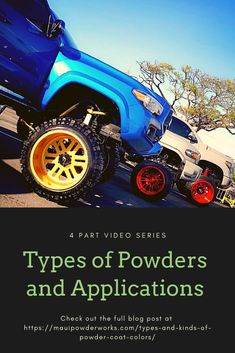 Watch this Video series on the types and kinds of powder that powder coaters to use for your specific project Powder Coat Colors, Kinds Of Colors, Ceramic Coating, Brake Calipers, Powder Coating, Chrome, Watch, Type, School
