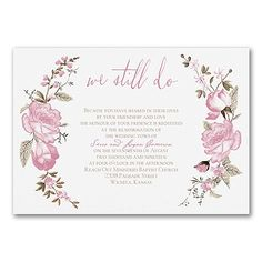 Find large collection of marriage vows renewal invitations to personalize with your own unique and amazing wedding vows renewal invitation wordings. Vow Renewal Invitations, Discount Wedding Invitations, Wedding Anniversary Invitations, Engagement Party Invitations, Wedding Invitation Design, Wedding Vows, Bridal Shower Invitations, Wedding Stationery, Marriage Vows