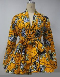 Check out our fabulous Ankara peplum top made from Ankara fabric!Can be paired with jeans or just about anything.Available to order now in sizes L,XL,XXL,XXXL and XXXL.Order yours today Short African Dresses, Latest African Fashion Dresses, African Print Dresses, African Print Fashion, Ankara Dress Styles, African Print Dress Designs, African Traditional Dresses, African Attire, Fashion Kids