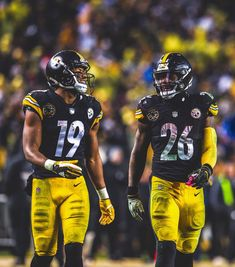 Le Veon Bell and JuJu Smith-Schuster Pittsburgh Steelers Football 925b75212