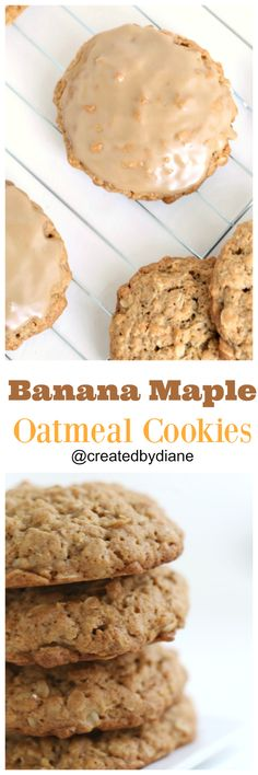 These cookies taste like banana bread that has a touch of maple and a nice oatmeal cookie all blended together.