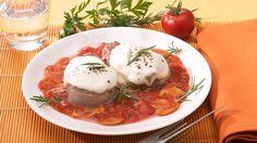 Mozzarella-Schweinemedaillons in Tomatensauce