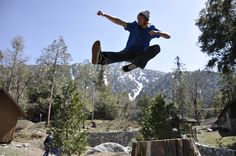 Ninja Lumberjack in California  upwithpeople.org