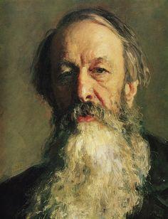 Ilya Repin (detail) portrait of Vladimir Stasov