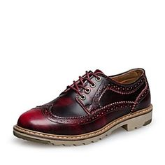 Men's Shoes Comfort Round Toe Flat Heel Leather Oxfords Shoes More Colors avaliable