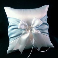 Ringbearer pillow in wedding colours of course.