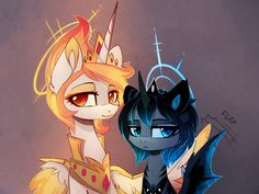 Another Solar Flare and Nemesis, this time with short hair My Little Pony Characters, My Little Pony Comic, My Little Pony Drawing, My Little Pony Pictures, Rainbow Dash, Unicornios Wallpaper, Celestia And Luna, My Little Pony Princess, Little Poni