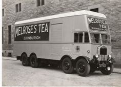 A terrific looking Albion van for Melroses's Tea distribution. Cool Trucks, Big Trucks, Classic Trucks, Classic Cars, Automobile, Old Lorries, Pt Cruiser, Classic Motors, Vintage Trucks