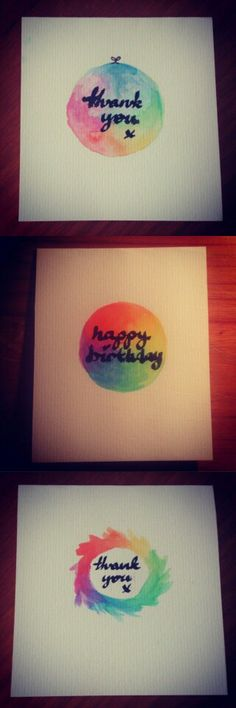 Simple watercolour cards