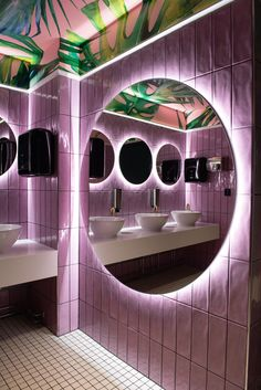 Coffee Shop Interior Design, Salon Interior Design, Cafe Interior, Bathroom Interior Design, Interior And Exterior, Restaurant Bad, Restaurant Bathroom, Restaurant Concept, Restaurant Design