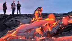 Kilauea Volcano Tour hot lava